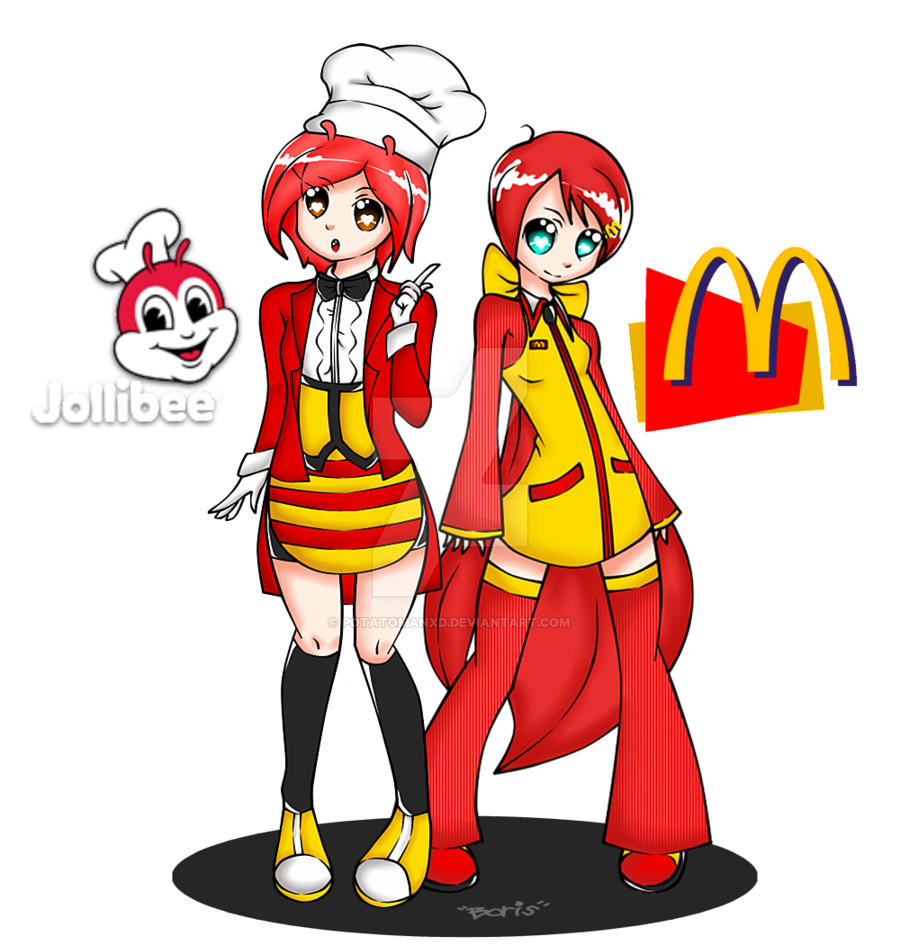 vector free library JolliBee meets McDonald by PotatomanxD on DeviantArt