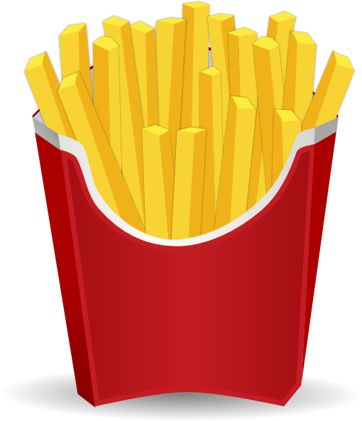 transparent library French fries clip art. Slice clipart fry
