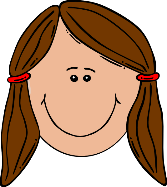 png black and white stock Me clipart girl. Head clip art.