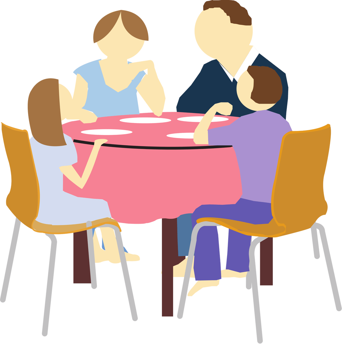jpg royalty free Meal clipart family eating.  tips enjoy stress.