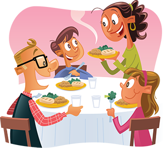 clip art library download Look before you leap. Meal clipart family eating.