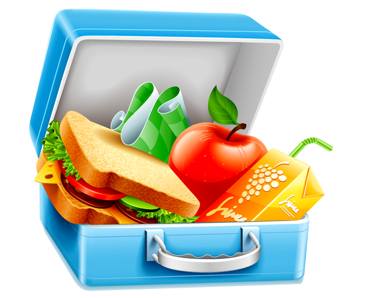 jpg library library Lunch Clipart transparent background