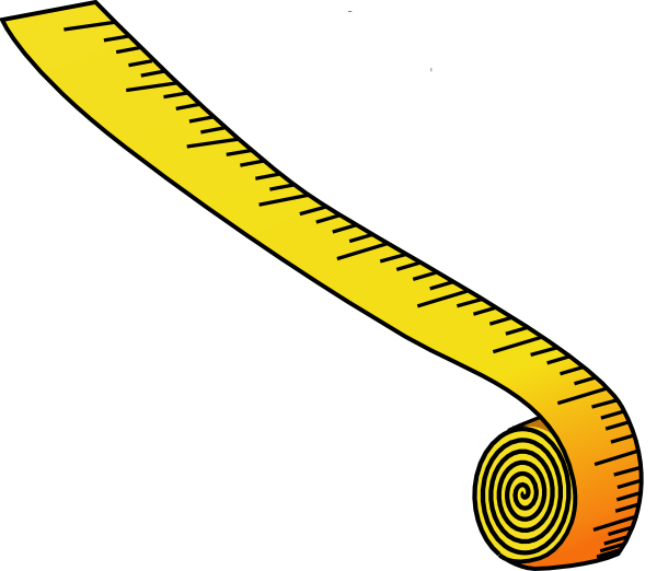 freeuse stock Measuring tape clip art. Measure clipart