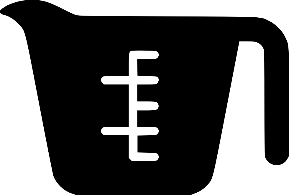 vector black and white library Measure clipart customary. Measuring cup svg png.