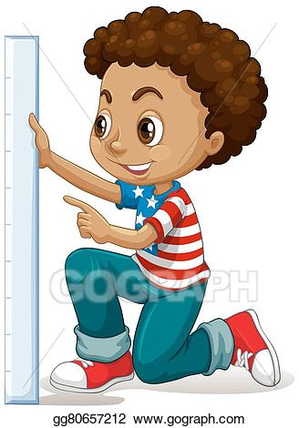 clipart free library Vector stock little boy. Measure clipart kid