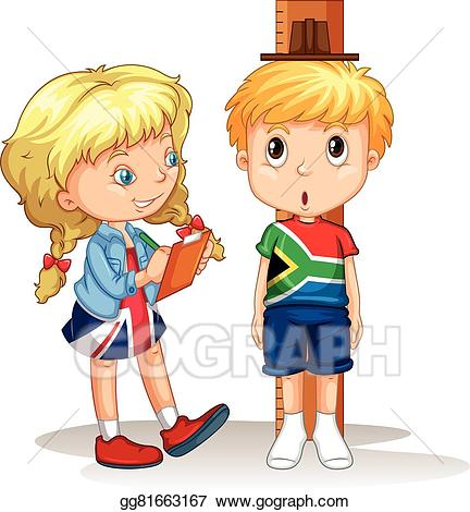 picture Measure clipart kid. Eps illustration boy and