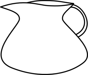 png free Measure clipart pint milk. Jug black and white.