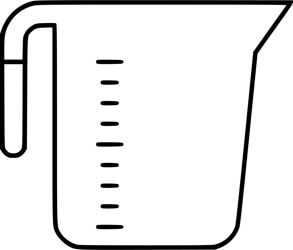 clip library stock Svg png icon free. Measuring cup clipart black and white