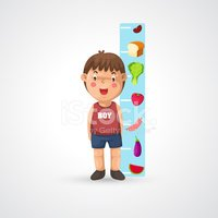 vector freeuse download Boy growing and stock. Measuring clipart grow tall.