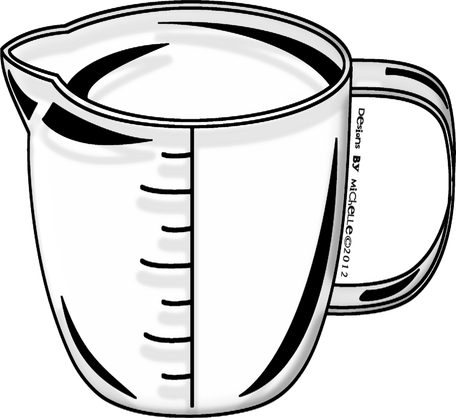 banner free The am teacher free. Measuring cup clipart black and white
