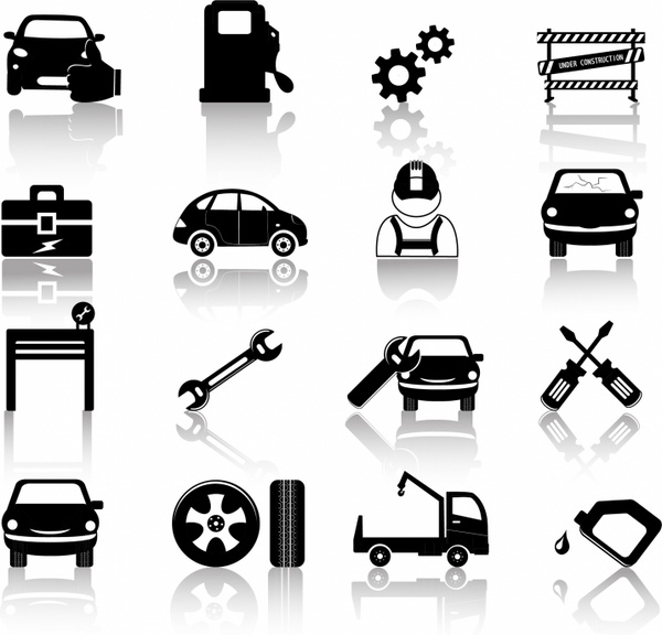 clipart royalty free stock Mechanic vector. Auto icons free in