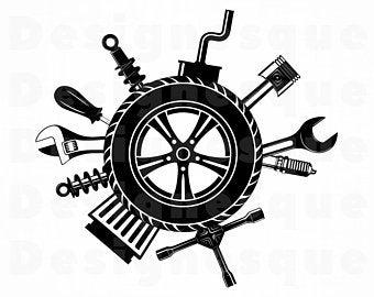 royalty free library Mechanic vector. Car svg etsy