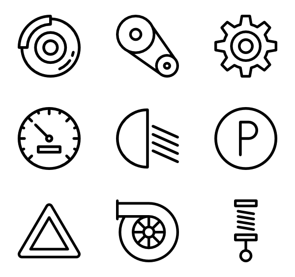 vector stock Repair mechanism Icons