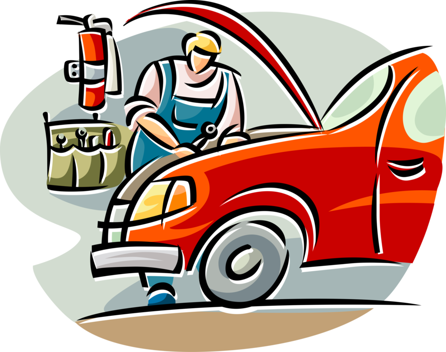 jpg free Auto Repairman Works on Car