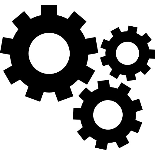 picture black and white library Vector wheels mechanical. Gears free icons icon