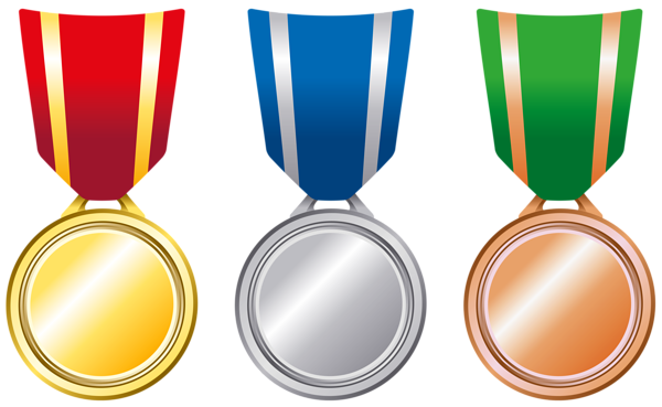 graphic freeuse stock Transparent Gold Silver Bronze Medals PNG Clipart