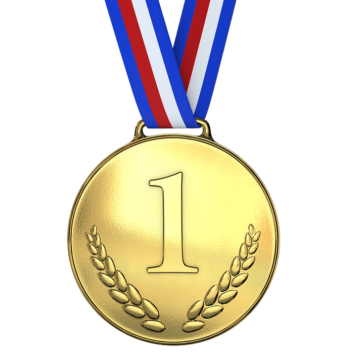 banner library stock Gold first one png. Medal transparent