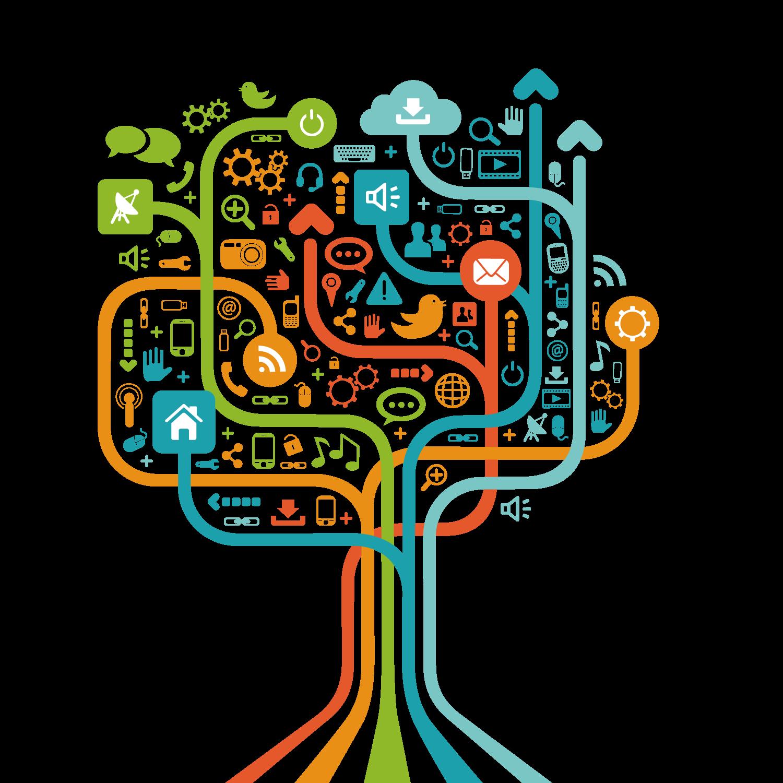 banner free stock Social technology tree free. Media clipart techology.