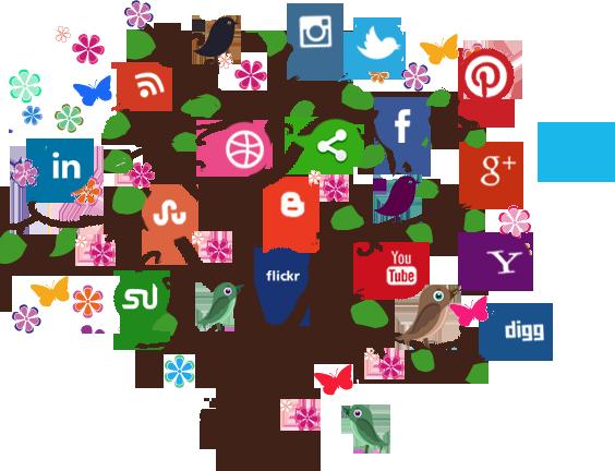 banner free stock Media clipart techology. Social technology tree free.