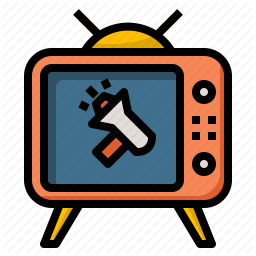 clipart free Media clipart tv advertisement. Iconfinder advertising by chaowalit.