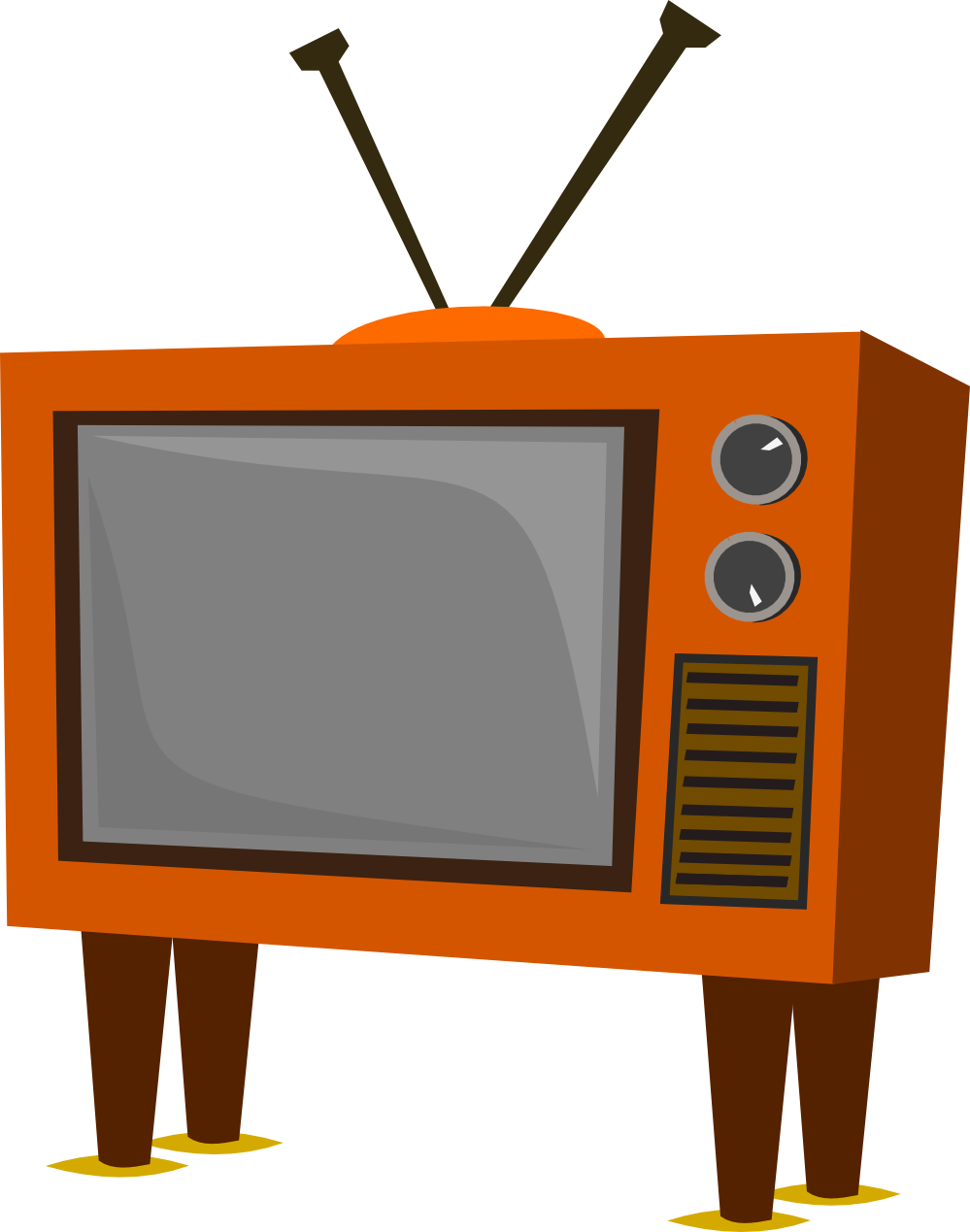 banner stock old television