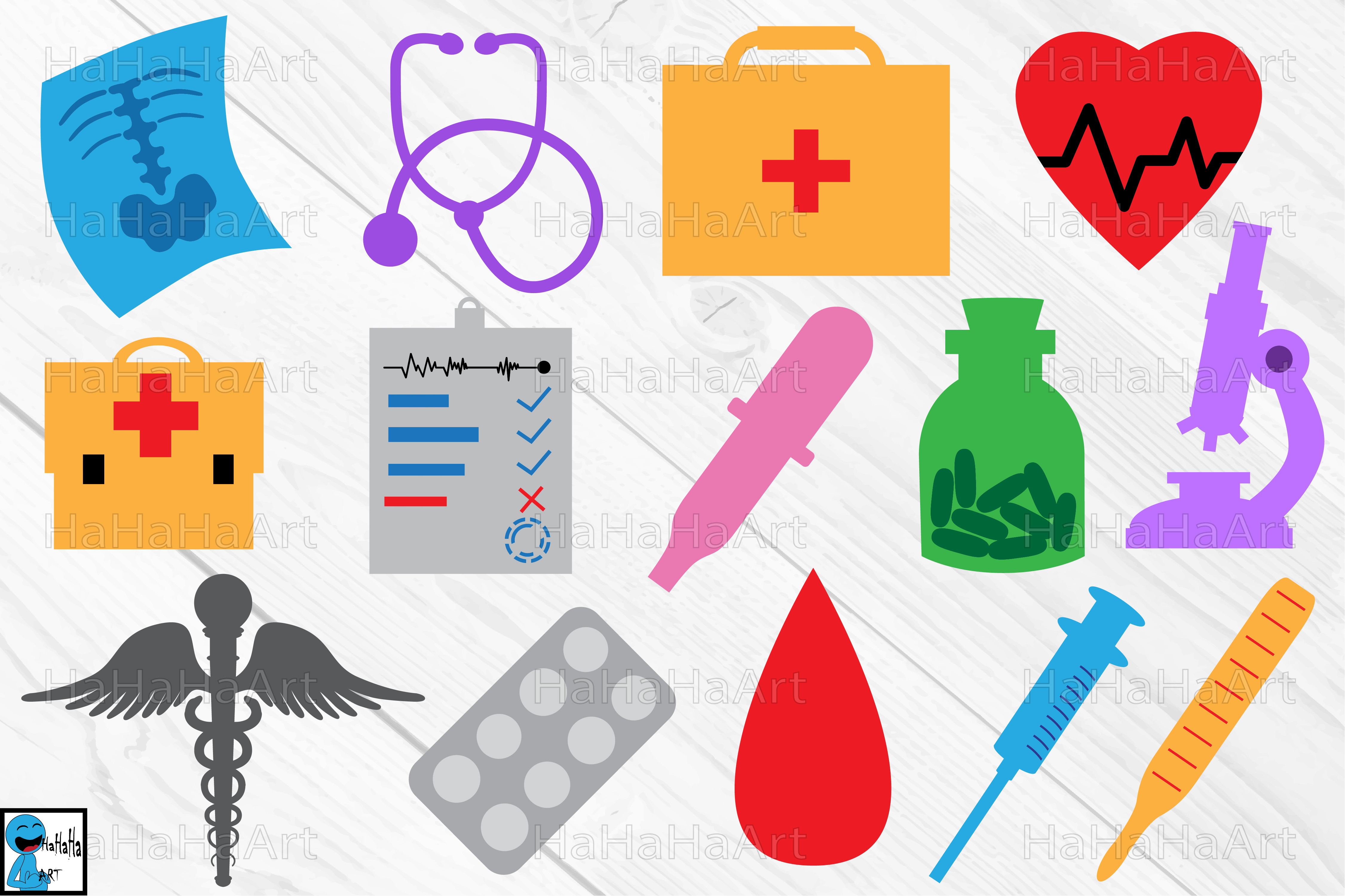 clipart transparent library Monogram doctor and cutting. Medical clipart.