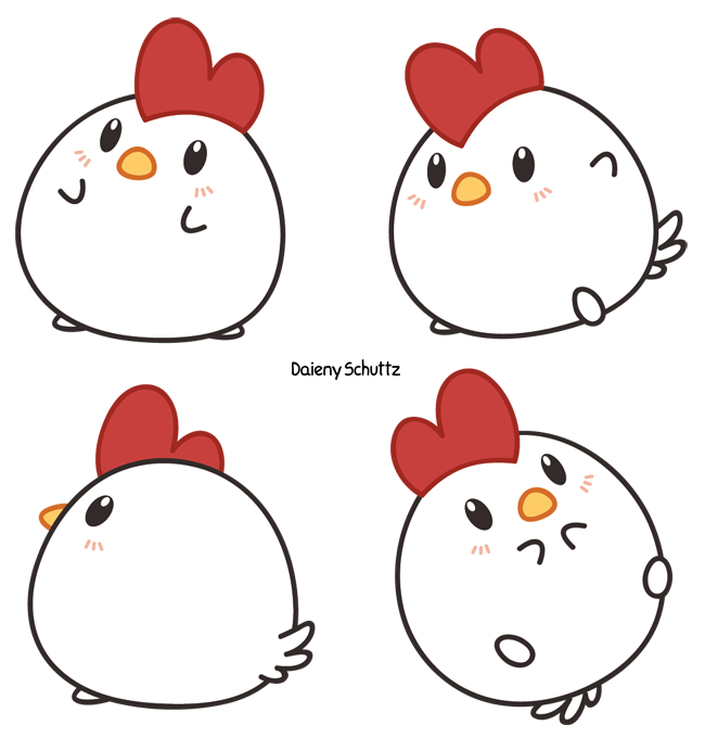 vector Cute Chick Drawing at GetDrawings