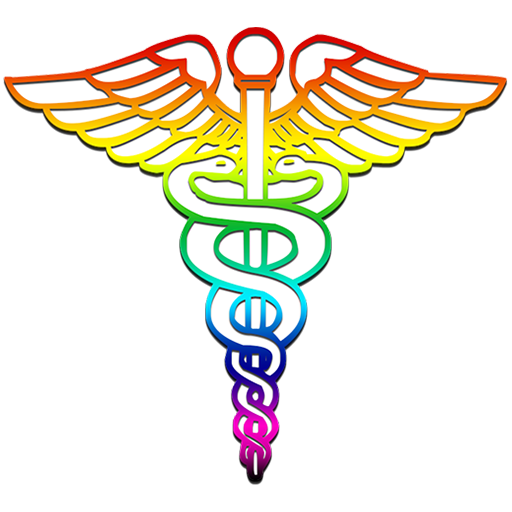 graphic transparent library Caduceus medical logo rainbow clipart image