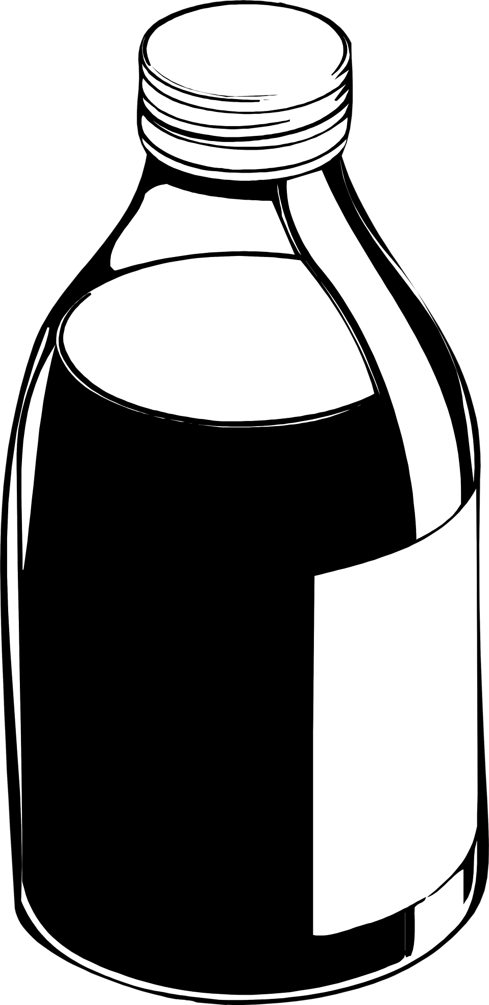 clipart royalty free library Vector bottle black and white.  collection of clipart