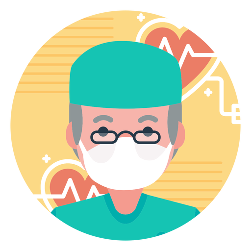 png download Vector doctor infographic. Old character png image