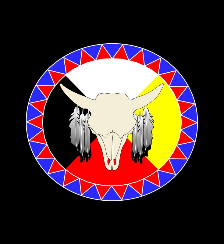 vector freeuse library Graphic design picture buffalo. Medicine wheel clipart