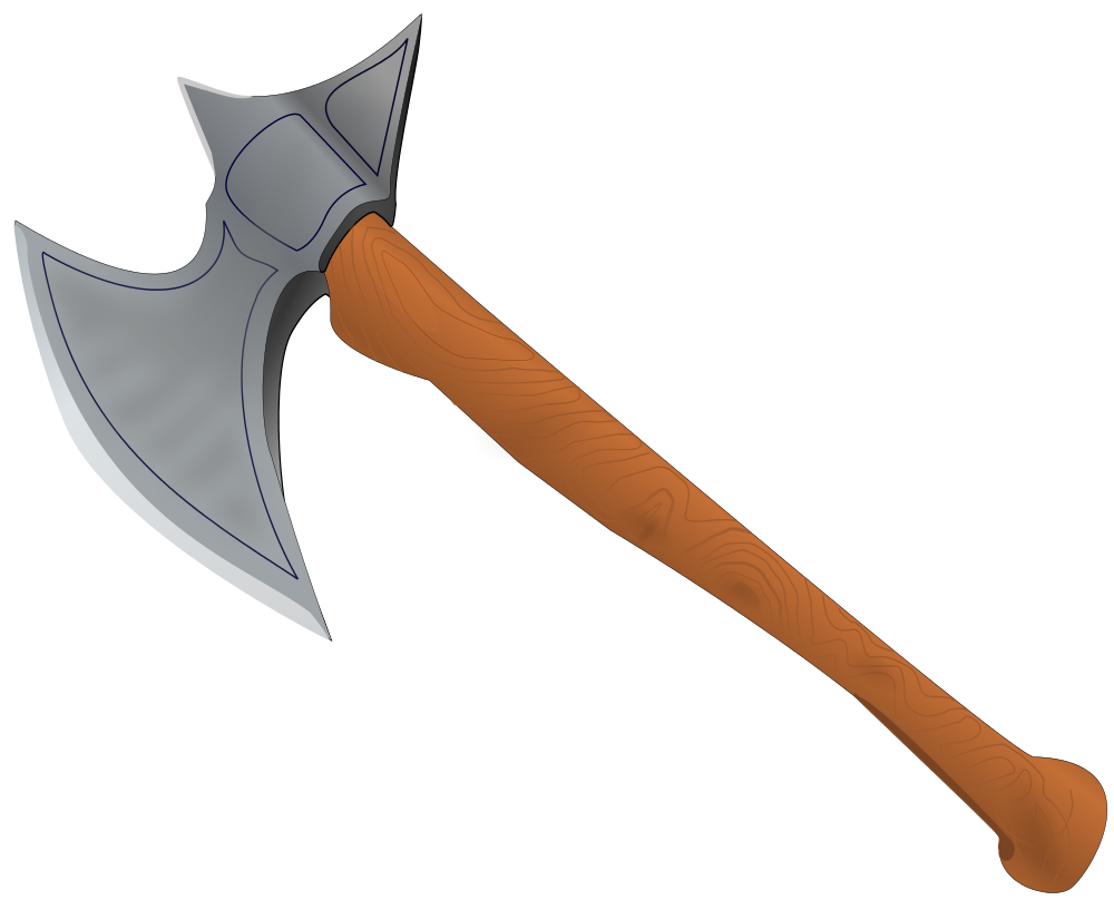 picture freeuse stock Medieval army clipart. File battle axe svg