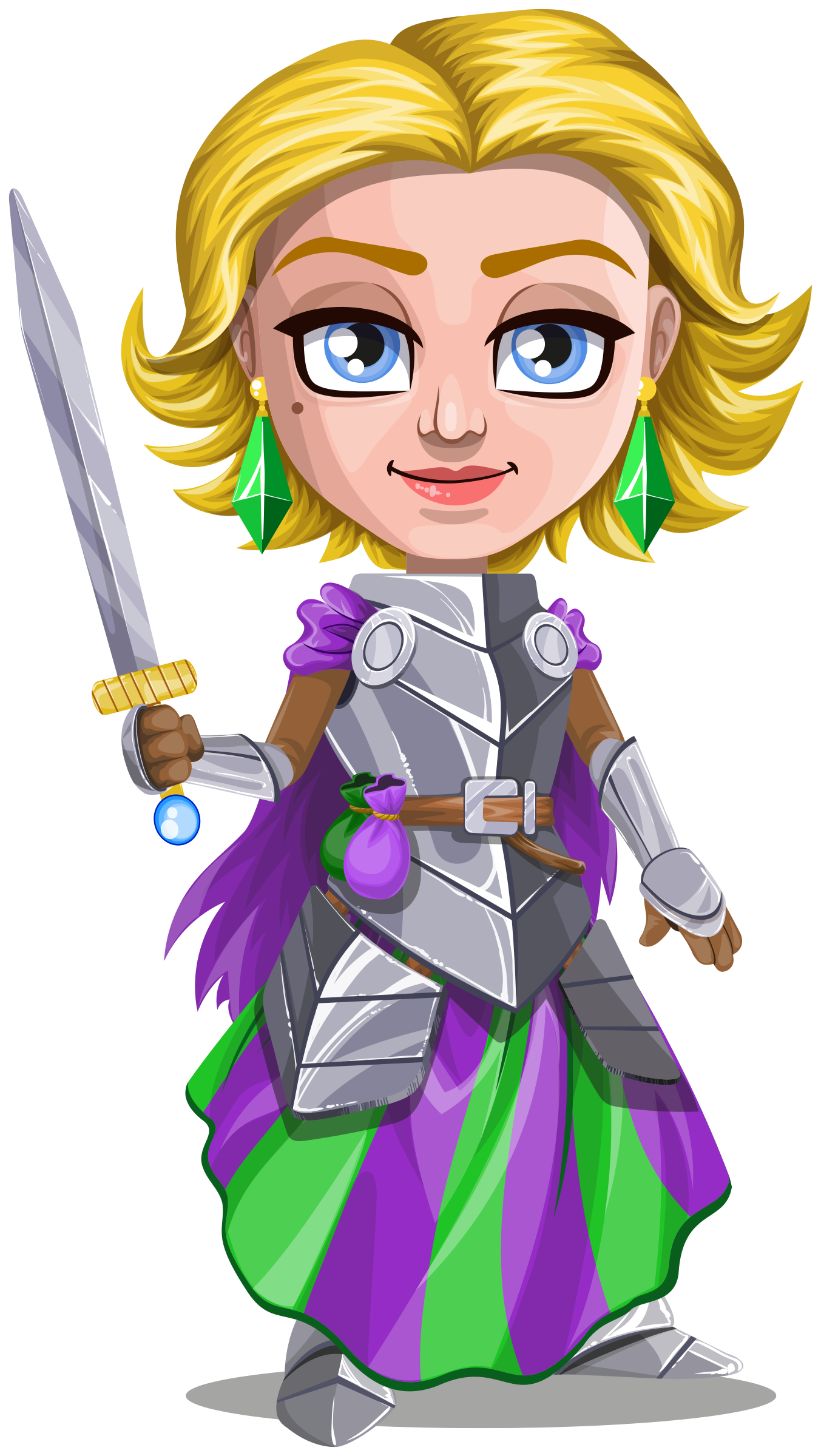 clip art transparent Medieval knight clipart. Woman warrior in armor