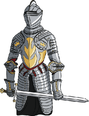 svg royalty free With sword the arts. Medieval knight clipart