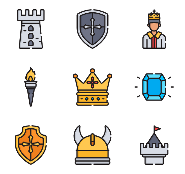 banner freeuse Icons free. Medieval vector