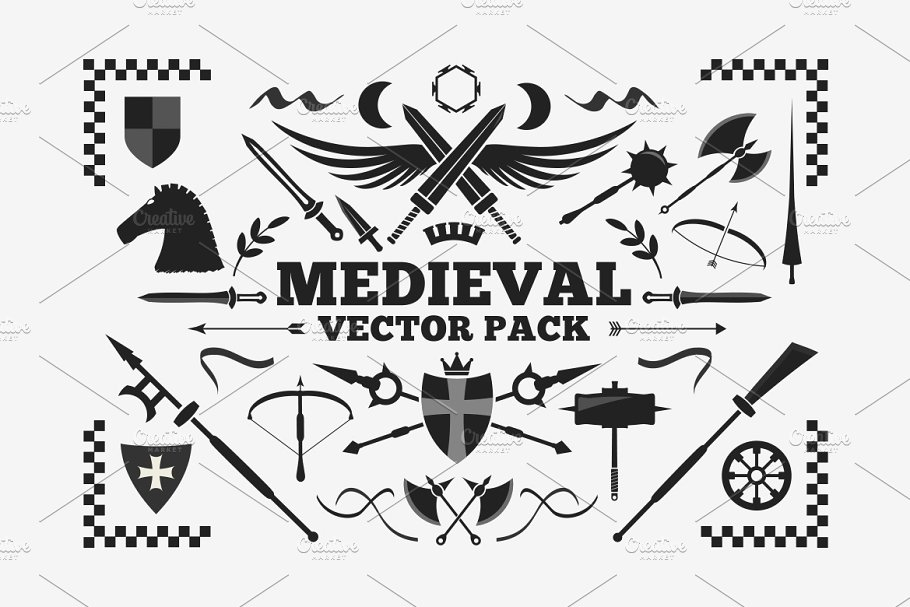 svg library download Medieval vector. Pack