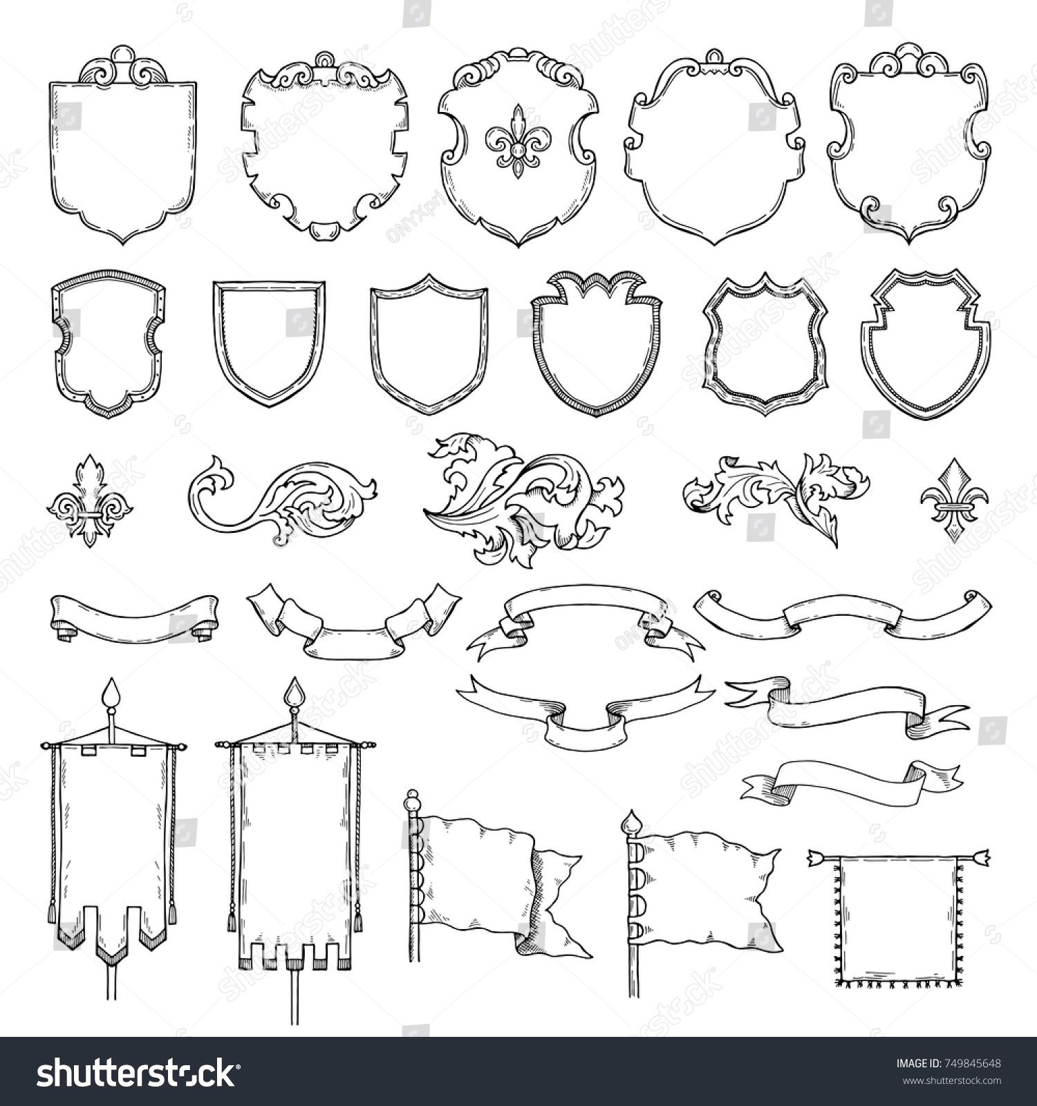 graphic library library Medieval vector. Illustrations of armed vintage