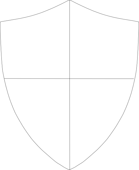 png transparent library Shield template clip art. Vector crest armor