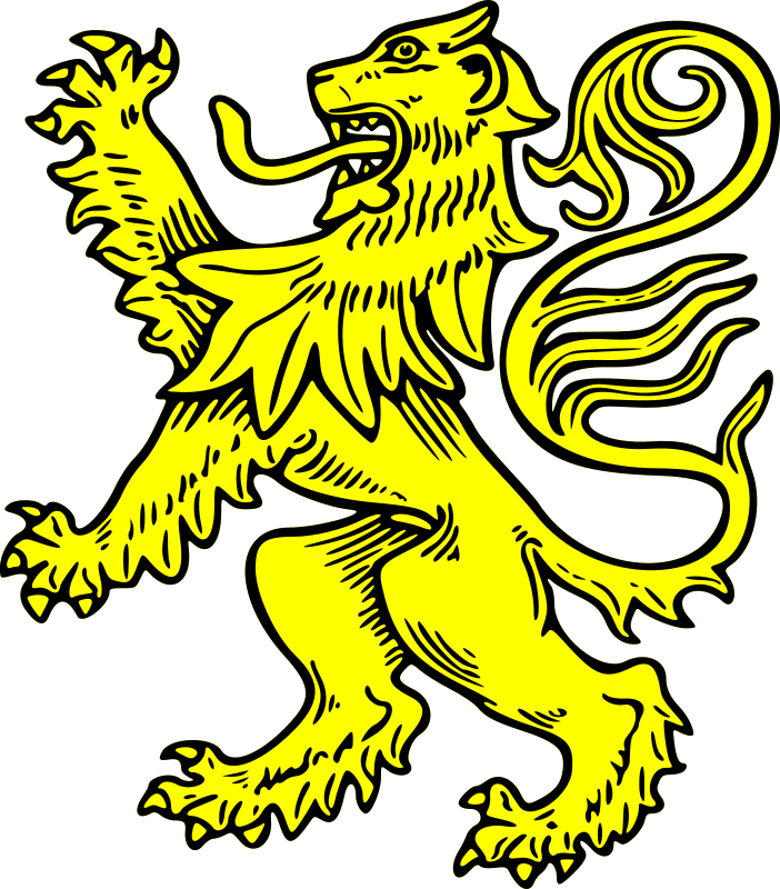 clip library library Free lion rampant psd. Vector crest medieval