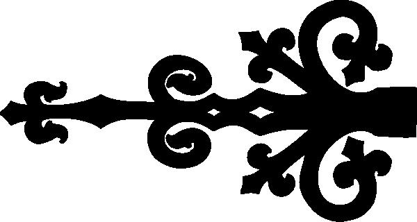 banner black and white stock Door Hinge Clip Art at Clker