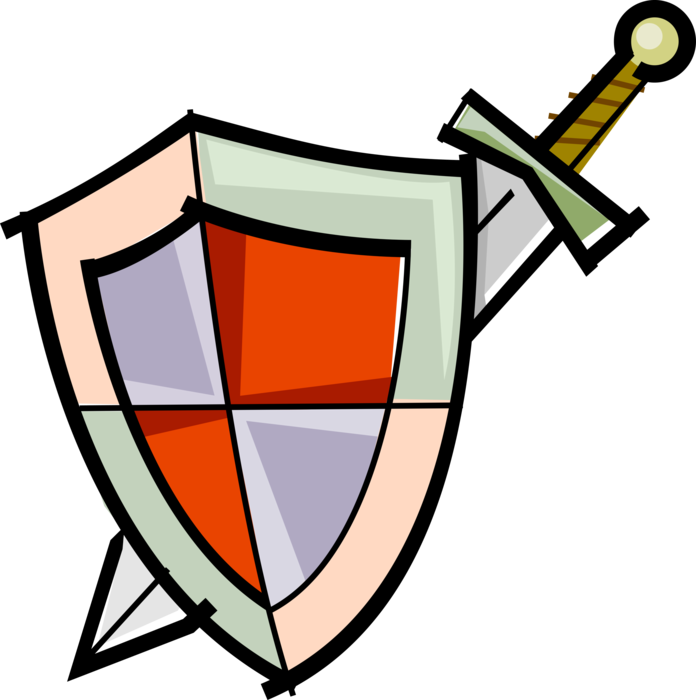 picture stock Medieval Battle Sword and Shield