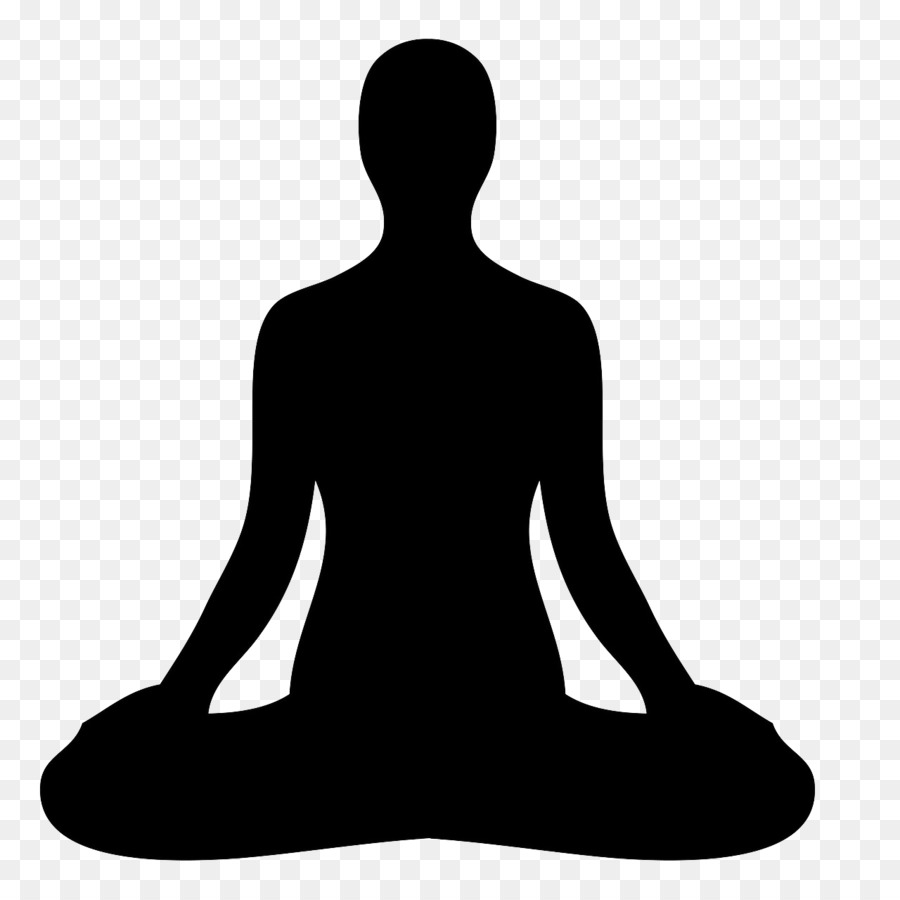 graphic freeuse library Meditation clipart. Hand cartoon illustration silhouette.