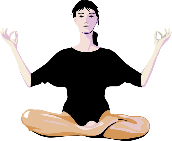 clip art stock Woman Practising Yoga Clip Art at Clker