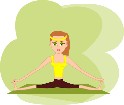 graphic royalty free download Fitness girl i royalty. Meditation clipart fit woman.