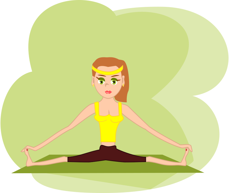 clipart library Meditation clipart fit woman. Free at getdrawings com.