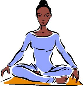 image royalty free library Free yoga at getdrawings. Meditation clipart fit woman.