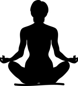 image stock Meditation clipart fit woman. Silhouette at getdrawings com.
