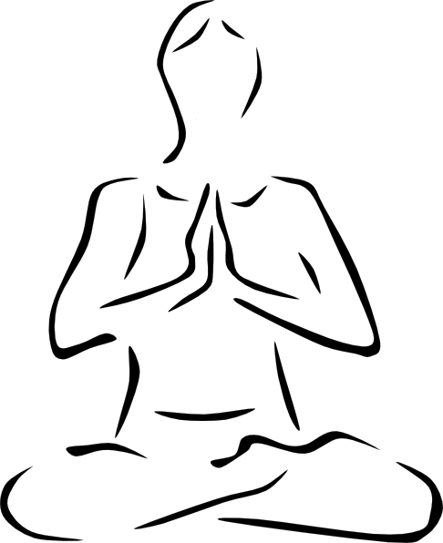 vector royalty free download Lotus Pose Clip Art at Clker