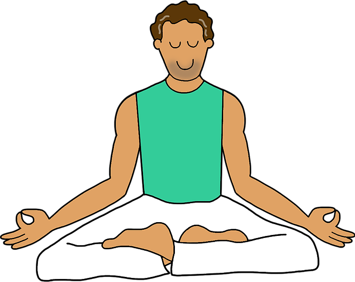 vector Meditation clipart mental fitness. Preschool free on dumielauxepices