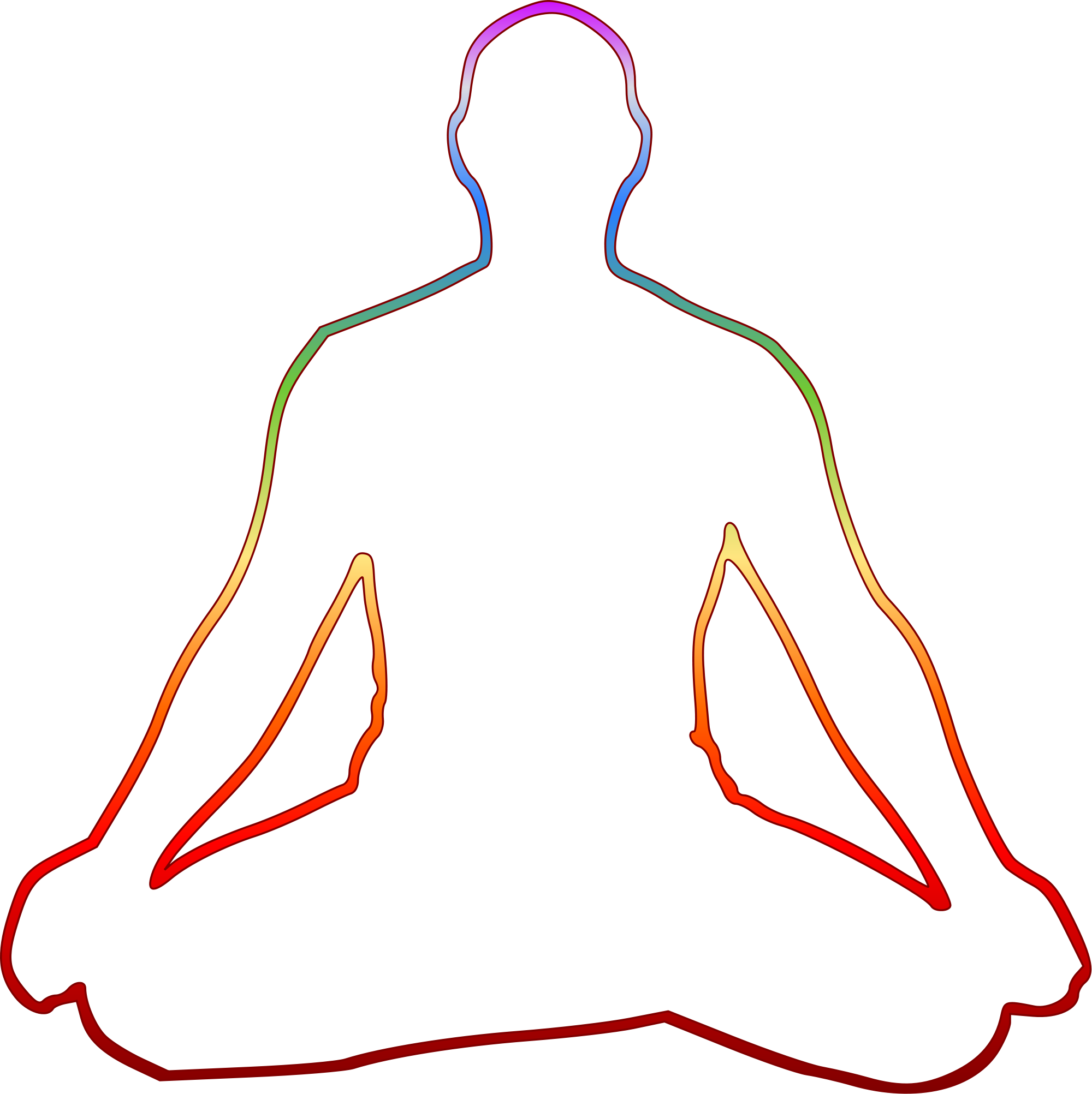 vector black and white download Meditating Drawing at GetDrawings